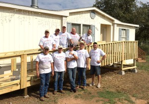 Members of the local chapter of the Texas Ramp Project built this wheelchair ramp for a Kingsland resident. Members are taking part in this year's project Oct. 10-17. The organization could use donations and volunteers to help. Pictured are Ray Green (top, left), John Taylor, Larry Jones, Don Barlow, Ben Brizendine, Bob Gilbertson (bottom, left) Mike Silzel, Shawn Mullen, Johnny Bethea and Tommy Siegfried. Call Ben Redler at (830) 613-0755. Courtesy photo