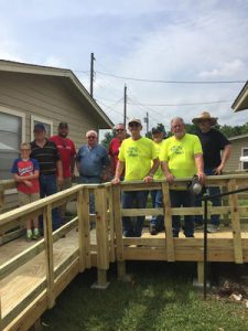 Texas Ramps Volunteers who built Claude Adams' ramp June 18, are, from left, Wesley Patterson, Lynn Patterson, Kyle Patterson, Buddy Heuberger, Keith Flowers, David Dickerson, Jerry Patton, Bill Halliday and Mike Malone. Not pictured is Don Dickerson.